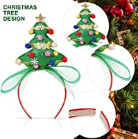 KIDS ADULTS CHRISTMAS TREE HEAD HAIR BAND HAIRBAND HEADWEAR CHRISTMAS GIFT FADDI