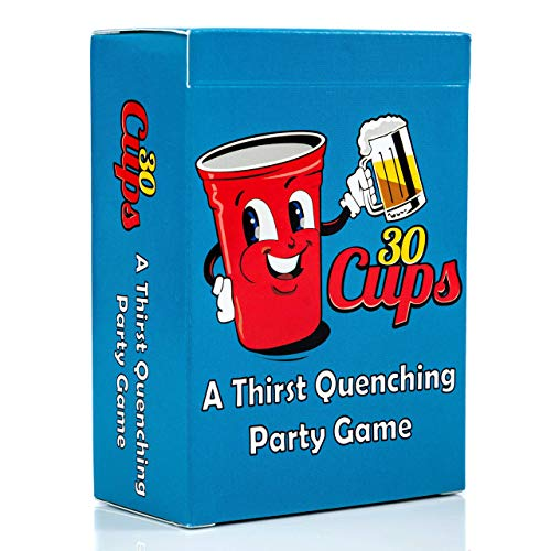 30 Cups | A Fun and Thirst Quenching Adult Drinking Card Game | The Perfect Option for Game Night, Parties, Games with Friends and Groups