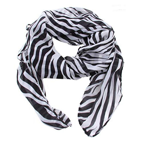 TXIN Multi-Usage Lightweight Women Long Prints Shawl Zebra Large Stripe Scarves (Zebra Print Chiffon Scarf)