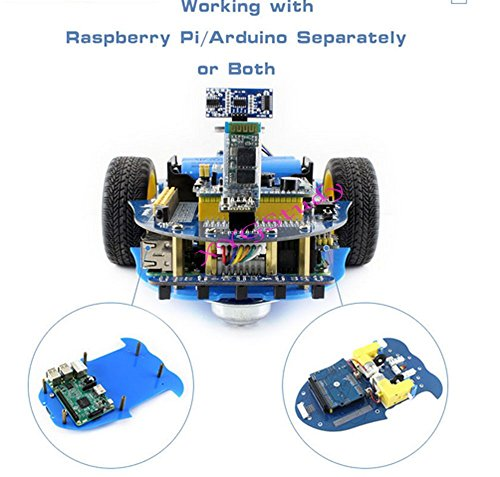 NEW AlphaBot Robot Building Starter Kit Accessory Pack for Raspberry Pi 3 Model B with Camera Sensors (No Pi) @XYGStudy