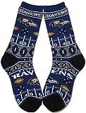 NFL Baltimore Ravens Super Fan Socks (Mens Large 10-13)