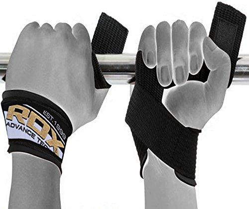 RDX Weight Lifting Strap Gym Bodybuilding Straps Crossfit Wrist Wraps Hand Bar Training Workout (SOLD AS (Inn Bar)
