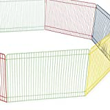 WOWOWMEOW Small Pet Multi-Color Playpen Portable