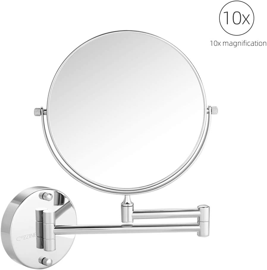 Cozzine 10X Non-Lighted Wall Mounted Makeup Mirror Reviews