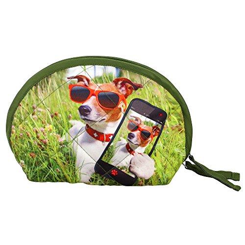 Digital Dog Printed Dupion...