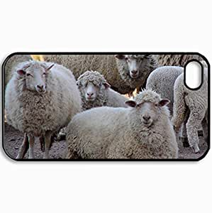 Lovely Unique Design Protective Cellphone Back Cover Case For iPhone 5 5S Case Sheeps Black Custom hong hong case