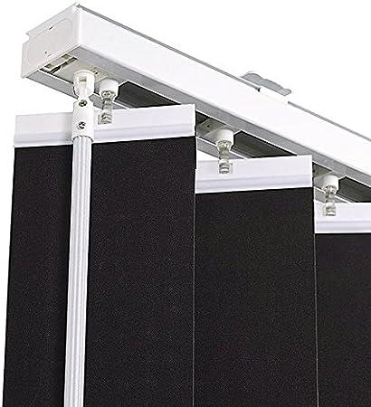 Ventanara® - Juego completo de cortinas tipo persianas verticales, 89mm, incluyematerial de montaje, antracita, 100x250 cm (Breite X Höhe): Amazon.es: Hogar