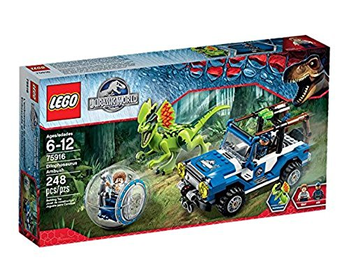 New Lego Jurassic World Dilophosaurus Ambush 75916 Building Kit From Japan