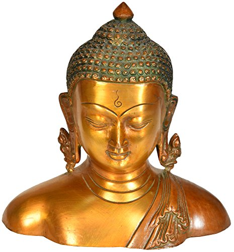 Buddha Bust - Brass Statue