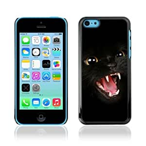 YOYOSHOP [Dark Panther Cat] Apple iPhone 5C Case