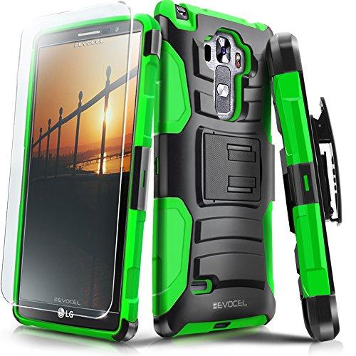 LG G Vista 2 Case, Evocel [Generation Series] Belt Clip Holster, Kickstand, HD Screen Protector, Dual Layer for LG G Vista 2 H740 (2015 Release), Green (EVO-LGV2-AB212) (Lg Case G Color Vista)