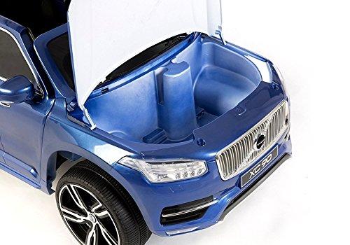 Elektro Kinderauto Elektrisch Ride On Kinderfahrzeug Elektroauto Fernbedienung Volvo XC90 Blau Metallisch