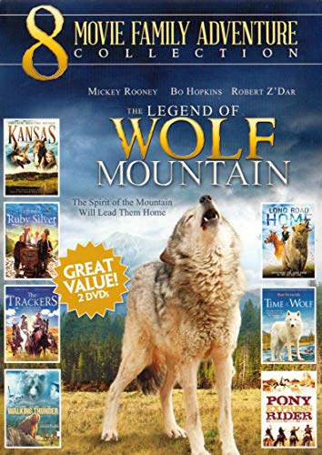 8 Movie Family Adventure Collection (The Legend of Wolf Mountain / Walking Thunder / The Trackers / Kansas Legends of the Ruby Silver / Long Road Home / Time of ()