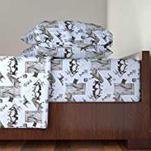Roostery Spooky 4pc Sheet Set Poltergeist by Louisehenderson Queen Sheet Set made with