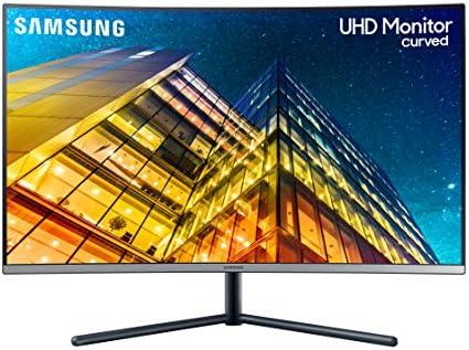 SAMSUNG LU32R590CWNXZA 32-Inch UR590C UHD 4K Curved Gaming Monitor, Dark Blue Gray