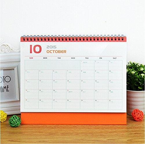 2016 Korean Mr mustache calendar cute calendar small desk Creative calendar school office supplies (yellow)