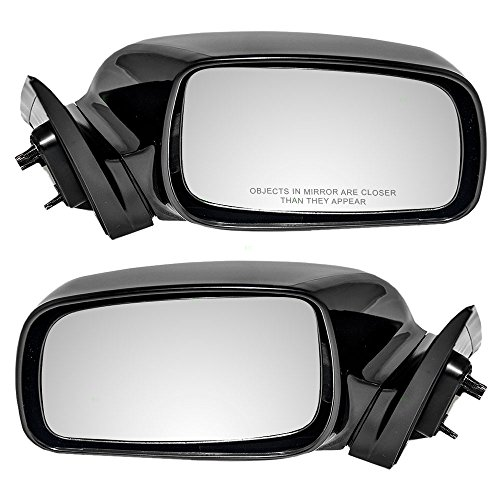 (Driver and Passenger Power Side View Mirrors Ready-to-Paint Replacement for Toyota Japan USA87940-33620-C0 87910-06190-C0)
