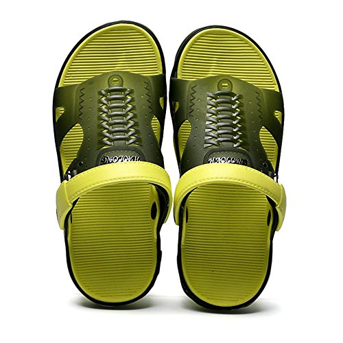 Slides Slippers Casual Indoor SITAILE Sandals Mens Water Slip On Lightweight Darkgreen Home Beach Outdoor R7ngR8SUx