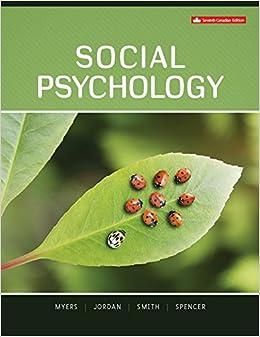 Social Psychology David Myers Christian Jordan Steven Smith