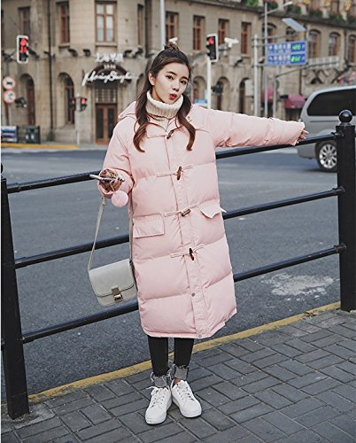 Long Jacket Large Horns In Section Of Deduction Yards Bread Padded Winter Loose The Cotton Xuanku Thick Cotton Coat Pink Jacket Women'S qAcWHf7I