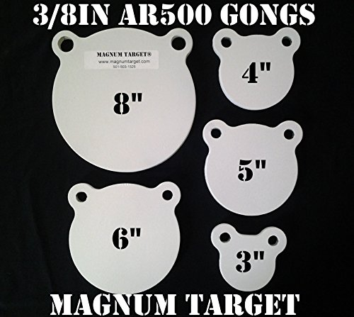Rope Cutter Gun (3,4,5,6&8in. AR500 Gong Shooting Targets-3/8in.Rifle Targets-5pc Steel Targets)