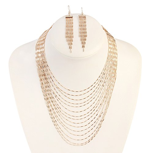Multi-level Metal Texture Sets Yiwu Jewelry Accessories (Gold) ()
