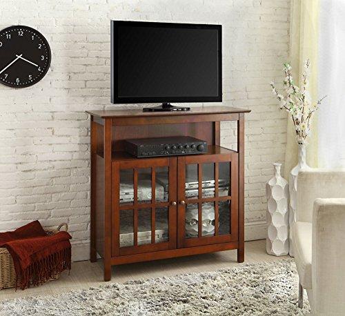 Convenience Concepts Designs2Go Contemporary Big Sur Highboy TV Stand, Cherry (Contemporary Corner Tv Stands)