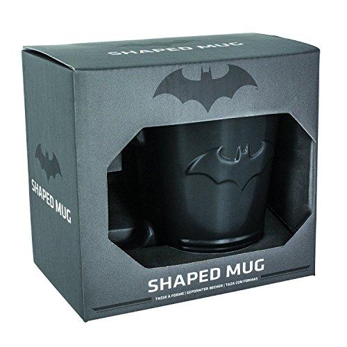 Batman Shaped Ceramic Coffee Mug - DC Comics Embossed Cup