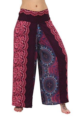 ThaiUK - Pantalón - para mujer Floral Rose
