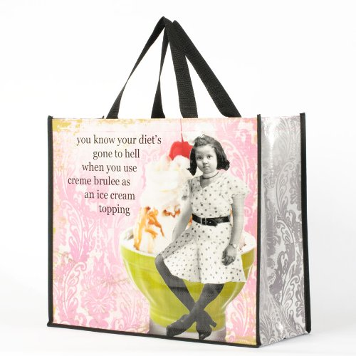Enesco Holy Crap by Erin Smith Art Creme Brulee Bag, 15.75-Inch by Enesco
