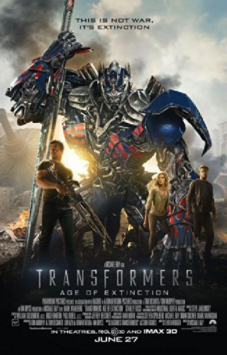 Extinction Movie Poster (TRANSFORMERS AGE OF EXTINCTION (2014) Original Authentic Movie Poster 27x40 - Double-Sided - Mark Wahlberg - Stanley Tucci - Nicola Peltz - Jack Reynor)