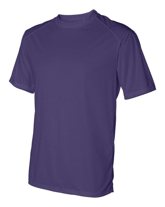 Badger Adult B-Core Short-Sleeve Performance Tee L Purple