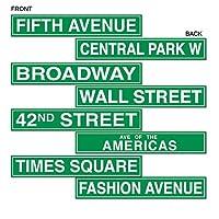 Beistle 50094 4-Pack de recortes para letreros de la calle NYC, 4 pulgadas por 24 pulgadas