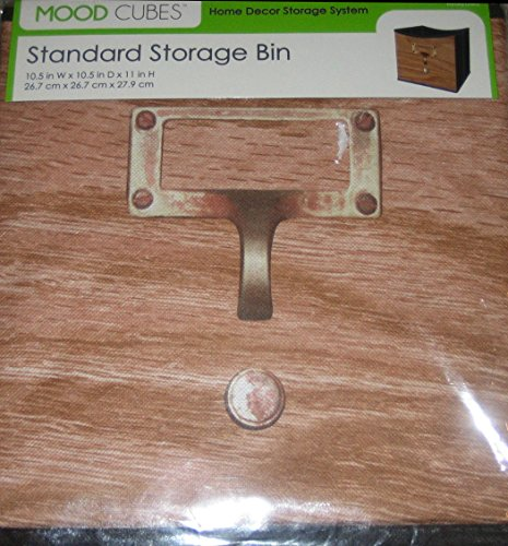 Mood Cubes - Brown Wooden Design - Standard Storage Bin 10.5x10.5x11'