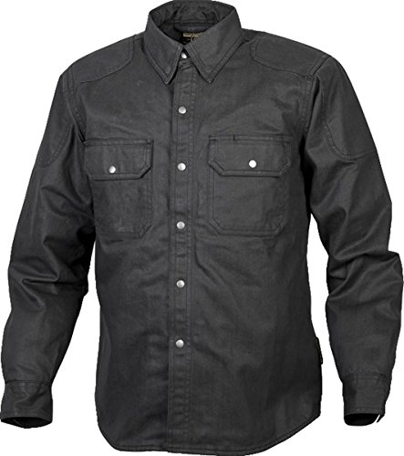 Scorpion Unisex-Adult Covert Waxed Riding Shirt (Black, Medium)