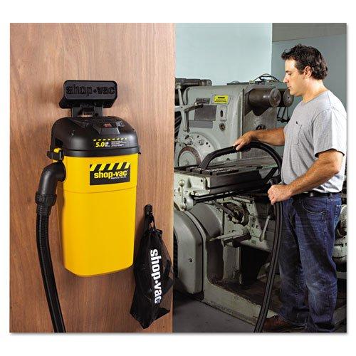 Shop-Vac 3942010 Wall Mount Vac, 5 gal Capacity, 17 lb, Yellow/Black