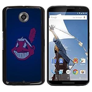 Design for Girls Plastic Cover Case FOR NEXUS 6 / X / Moto X Pro Cleveland Indian Baseball OBBA