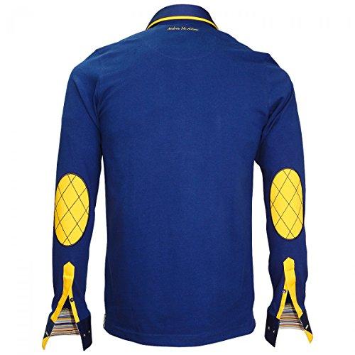 Polo Sweat Col Andrew Paxton Allister Bleu Mc Double EwZZPvq