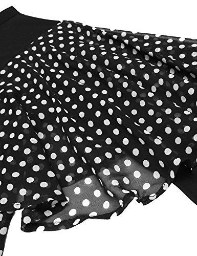 Bulges One Collar Casual Hem Asymmetrical Dress Sexy Black Stand Cold Patchwork Shoulder Women rqtXxwOSnr