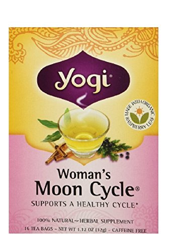 Yogi Tea,16 Tea Bags (Women's Moon Cycle, 1 Pack) (Leaf Wide Twining)