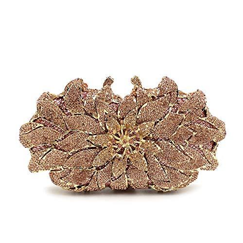 bezaaid Diner Bag Prom Jxth Diamanten Clutch Huwelijkscadeau Voor Bruiloft kleur Goud Goud Luxe Party Imitatie Bruid Hand FSWfXqg