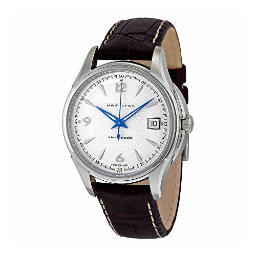 Hamilton Men's H32455557 JazzMaster Viewmatic Silver Dial Brown Strap Watch
