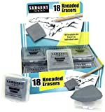 Sargent Art 36-1018 18 Kneaded Erasers, 1-1/2'' x 1-3/8'' x 3/8'' Ea