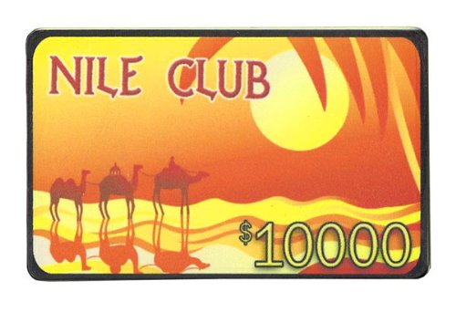 Nile Club Ceramic Poker Plaque - Choose - Chip Plaque Ceramic Poker