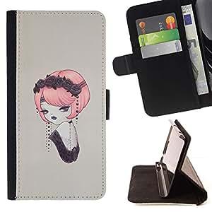 Momo Phone Case / Flip Funda de Cuero Case Cover - Pin del vintage encima;;;;;;;; - Apple Iphone 5 / 5S