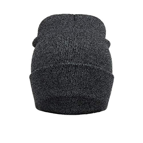 TWGONE Womens Beret Hats Unisex Outdoors Winter Warm Knit Crochet Ski Hat Braided Headdress Cap(Free Size,Dark Gray) -