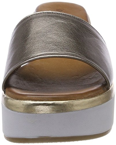 Plateado Mujer gold 16780997 Chanclas Inuovo 8681 pewter Para 6qPwn71RxT