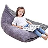 Stuffed Animal Bean Bag Chair Kids Toy Storage Organizer Stuffie Seat, Foldable Floor Chair Sofa Toy Storage Bean Bag Chair Seat for Kids, Teens and Adults Extra Large Super Soft Velvet,Cover Only