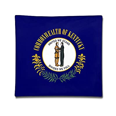 Flag Of Kentucky Sofa And Bed Decoration Cotton Pillowcase Cover 18 Inches X18 Inch Sets Of Series