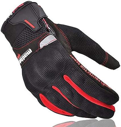 MAD10C Noir XM Bruce Dillon Gants de Moto /ét/é Moto Tout-Terrain Gants Tout-Terrain Plein /écran de Moto Tactile /écran v/élo de Course Moto